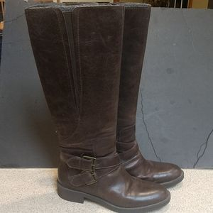 Enzo Angiolini Brown Leather Riding Boots Size 7